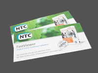 Faltblatt für NTC Fastviewer Web-Collaboration